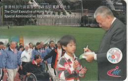 HONG KONG - Special Administrative Region Mr.Tung Chee, New World Telephone Prepaid Card $100, Exp.date 30/11/97, Used - Hongkong