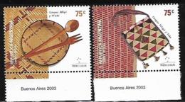 SELLOS DE ARGENTINA - MERCOSUR AÑO 2002 -  Artesanías Indígenas - MNH - Ohne Zuordnung
