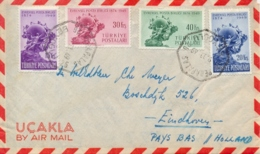 Turkey 1949 Cover To Netherlands With Complete Issue 75th Anniversary Of Universal Postal Union UPU - U.P.U.