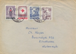 Yugoslavia 1952 Cover To Netherlands With 12 D. + 16 D. + Red Cross Tax Stamp 2 X 0,50 D. - 1945-1992 République Fédérative Populaire De Yougoslavie