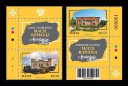 Malta 2019 Mih. 2092/93 Palaces (with Labels) (joint Issue Malta-Romania) MNH ** - Malta