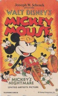 Télécarte Japon  / 110-190468 - DISNEY - Série MOVIE POSTER COLLECTION A3 - MICKEY  * NIGHTMARE * Japan Phonecard - Disney