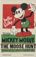 TC NEUVE Japon  / 110-193370 - DISNEY - Série MOVIE POSTER COLLECTION A6 - MICKEY MOOSE HUNT Japan MINT Phonecard - Disney