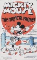 TC NEUVE Japon  / 110-195311 - DISNEY - Série MOVIE POSTER COLLECTION A8 - MICKEY MUSICAL FARMER Japan MINT Phonecard - Disney