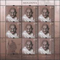 "Moldova 2019 ""Personalities Who Changed World History.Mohandas (Mahatma) Gandhi (1869-1948)"" Sheet Quality:100% - Moldova"