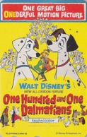 TC Japon DISNEY / 110-188240 - Série MOVIE POSTER COLLECTION F1 - 101 DALMATIANS ** ONE PUNCH ** - Dog Japan Phonecard - Disney