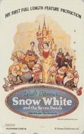TC Japon / 110-189169 - DISNEY - Série MOVIE POSTER COLLECTION F2 - BLANCHE NEIGE SNOW WHITE Japan Phonecard Ecureuil - Disney