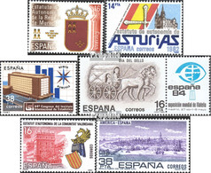Spanien 2601,2602,2603,2604Zf, 2605,2606 (kompl.Ausg.) Postfrisch 1983 Murcia, Asturien, Statistik U.a. - 1931-Heute: 2. Rep. - ... Juan Carlos I