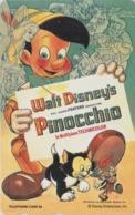 TC NEUVE Japon  / 110-192373 - DISNEY - Série MOVIE POSTER COLLECTION F5 - PINOCCHIO & Chat Cat - Japan MINT Phonecard - Disney