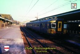 Set 6 Cartes Postales,transports, Train Stations, Belgium, Dendermonde, Oude Stationgebouw - Bahnhöfe Ohne Züge