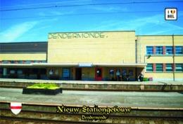 Set 6 Cartes Postales,transports, Train Stations, Belgium, Dendermonde, Nieuw Stationgebouw - Bahnhöfe Ohne Züge