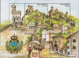 San Marino Block31 (kompl.Ausg.) Postfrisch 2002 Tourismus - Unused Stamps