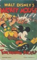 TC Japon  / 110-207846 - DISNEY - Série MOVIE POSTER COLLECTION M2 - ** TOUCHDOWN MICKEY ** - Japan Phonecard - Disney