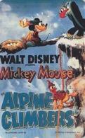 TC NEUVE Japon  / 110-207845 - DISNEY - Série MOVIE POSTER COLLECTION M3 - Mickey Donald  ALPINE CLIMBERS Japan MINT Pc - Disney