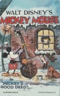 TC NEUVE Japon / 110-207842 - DISNEY - MOVIE POSTER COLLECTION M6 - MICKEY Dog CELLO ** GOOD DEED ** Japan MINT Pc - Disney