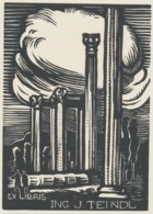 Ex Libris J. Teindl - Bochořákova-Ditrichová 1945 - Ex-libris