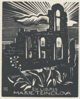 Ex Libris Marie Teindlová - Bochořákova-Ditrichová 1945 - Ex-libris