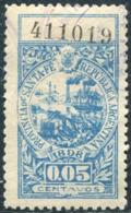 Argentina 1898 Provincia Santa Fe 5 C. Local Revenue Fiscal Tax Gebührenmarke LIGHTHOUSE Leuchtturm Phare Sailing Ship - Faros