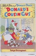 TC NEUVE Japon / 110-206554 - DISNEY DISNEYLAND - MOVIE POSTER - DONALD DUCK & His Cousin GUS Parapluie - Japan MINT Pc - Disney