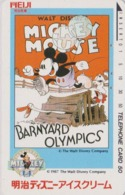 TC Japon / 110-56799 - DISNEY - MOVIE POSTER Série MEIJI ICE CREAM  - MICKEY JO J.O ** OLYMPICS ** COQ - Japan Phonecard - Disney