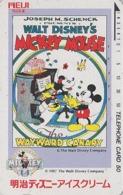 TC Japon / 110-56800 - DISNEY - MOVIE POSTER Série MEIJI ICE CREAM  - MICKEY MINNIE PIANO Musique Music Japan Phonecard - Disney