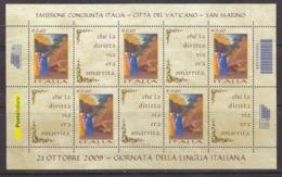 2009 MNH Dante Lingua Italiana - Blocchi & Foglietti