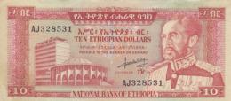 Ethiiopie - Billet De 10 Dollars - Hailé Sélassié- Non Daté (1966) - Ethiopië