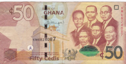 Ghana - Billet De 50 Cedis - 1er Juillet 2015 - Ghana
