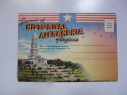 SOUVENIR FOLDER OF HISTORICAL ALEXANDRIA - Alexandria