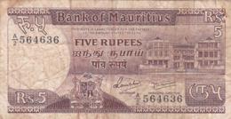 Ile Maurice - Billet De 5 Rupees - Non Daté - Mauritius