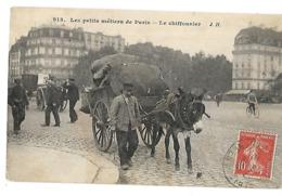75 LES PETITS METIERS DE PARIS LE CHIFFONNIER 1910 CPA 2 SCANS - Straßenhandel Und Kleingewerbe