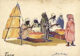 Illustrateur Aquarelle De Sandoz Taza RV Auto Circuits Nord Africains De La Cie Gen Transatlantique - Andere