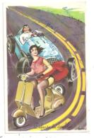 Scooter-Vespa -voiture De Course - Illustrateur Carrière -(D.3383) - Carrière, Louis