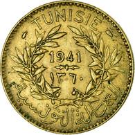 Monnaie, Tunisie, Anonymes, 2 Francs, 1941/AH1360, Paris, TTB+, Aluminum-Bronze - Tunisia