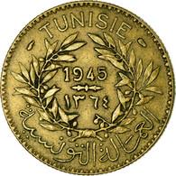 Monnaie, Tunisie, Anonymes, 2 Francs, AH 1364/1945, Paris, TTB, Aluminum-Bronze - Tunesië