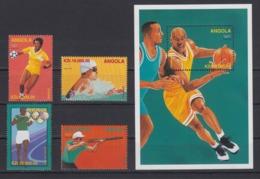 Angola 09.12.1996 Mi # 1102-05 Bl 31 Atlanta Summer Olympics, MNH OG - Verano 1996: Atlanta