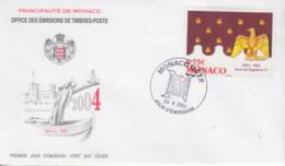 Enveloppe  FDC  1er  Jour   MONACO    Bicentenaire   Sacre  De   NAPOLEON     2004 - Napoleon