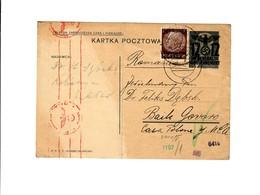 Ganzsache GG P 3II 08-1939: 23.7.40  Kolbiszyn Nach Rumänien, Zensur - Besetzungen 1938-45