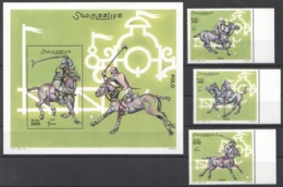 A986 2001 SOOMAALIYA SPORT HORSES POLO MICHEL 29 EURO 1BL+1SET MNH - Chevaux