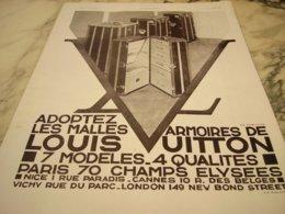 ANCIENNE PUBLICITE ADOPTEZ MALLE LOUIS VUITTON  1931 - Autres
