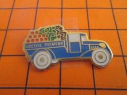 1219 Pin's Pins : BEAU ET RARE : Thème ALIMENTATION / CAMION DE LEGUMES CRETEIL PRIMEUR - Food