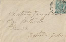 PORRETTA /  CASTEL DI CASIO  8-4-17 LETTERA  Leoni  5  Cent - 1900-44 Vittorio Emanuele III