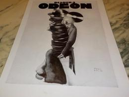 ANCIENNE PUBLICITE  DISQUE ODEON  1931 - Music & Instruments
