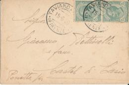 TAVIANO / CASTEL DI CASIO  15-6-1920 LETTERA  Leoni 5 X 2 CENT - 1900-44 Vittorio Emanuele III