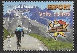 SPANISH ANDORRA, 2019, MNH, CYCLING, BICYCLES, MOUNTAINS, 1v - Cycling
