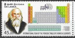 SRI LANKA, 2019, MNH, INTERNATIONAL YEAR OF THE PERIODIC TABLE OF CHEMICAL ELEMENTS, DMITRI MENDELEEV, 1v - Chemie