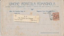 UNIONE AGRICOLA ROMAGNOLA / CASTEL DI CASIO  Lettera  2   CENT - 1900-44 Vittorio Emanuele III