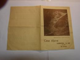 COURMAYOEUR  -- LA SAXE --  VAL D' AOSTA --  CASA ALPINA - Italie