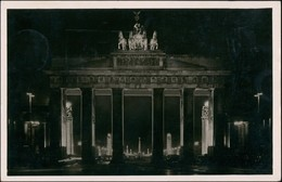 Mitte-Berlin Brandenburger Tor Nacht Durchblick Ost-West-Achse 1938 - Brandenburger Door