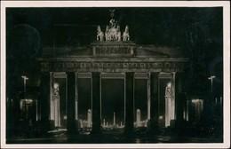 Mitte-Berlin Brandenburger Tor Nacht Durchblick Ost-West-Achse 1938 - Brandenburger Tor